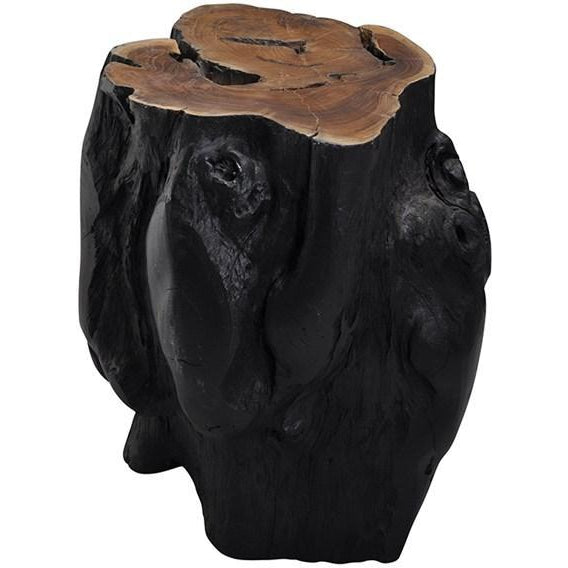 Log Stool Black