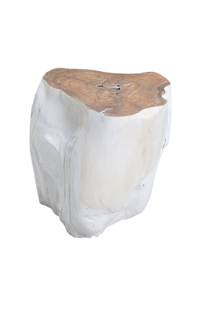 Log Stool White