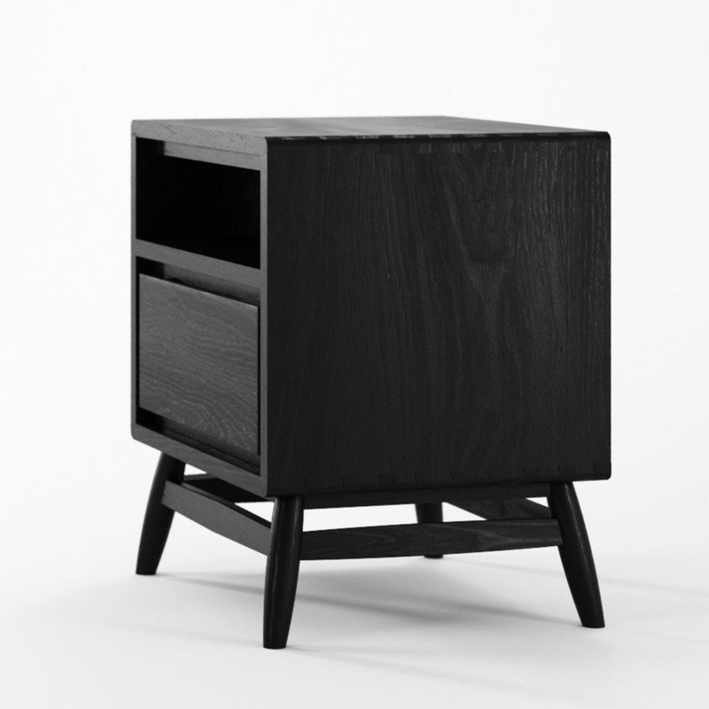 Twist Side Table - Satin Black-Indoor Furniture-Karpenter-Black Stained Oak-Black Stained European Oak-SLH AU