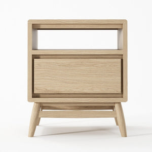Twist Side Table - European Oak