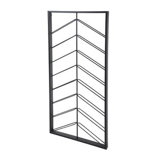 Chevron Wine Rack - Iron