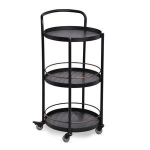 Jules 3-Tier Round Drinks Trolley