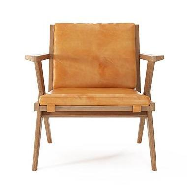 Tribute Easy Chair - FSC Recycled Teak with Tan Cognac Leather-Indoor Furniture-Karpenter-Orange-FSC-Certified Recycled Teak-SLH AU