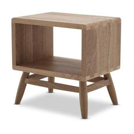 Twist Bedside - FSC Recycled Teak-Indoor Furniture-Karpenter-Teak Brown-FSC-Certified Recycled Teak-SLH AU