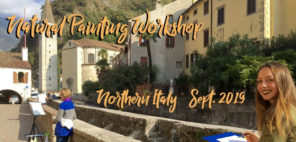 Natural Painting Workshop in Italy