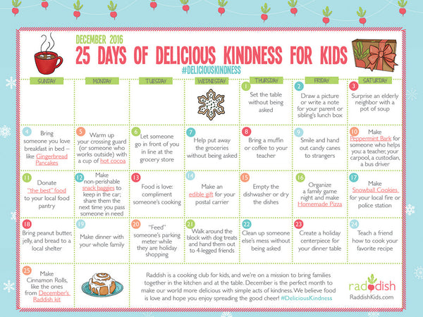 25 Days of Delicious Kindness for Kids!