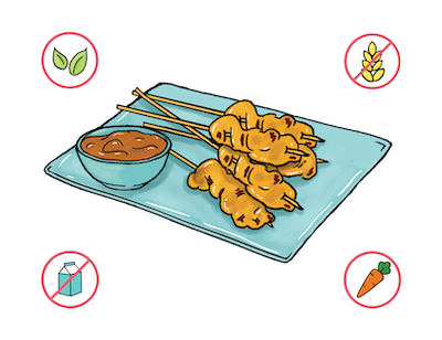 Dietary Modifications for Chicken Satay Skewers