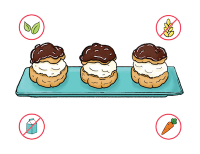 Dietary Modifications for Chocolate-Dipped Cream Puffs