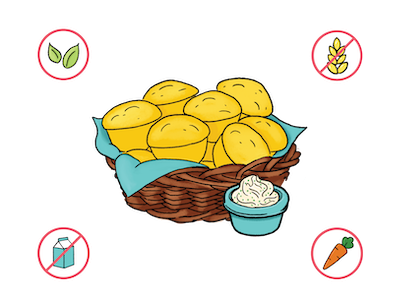 Dietary Modifications for Corn Muffins with Stuffing Butter