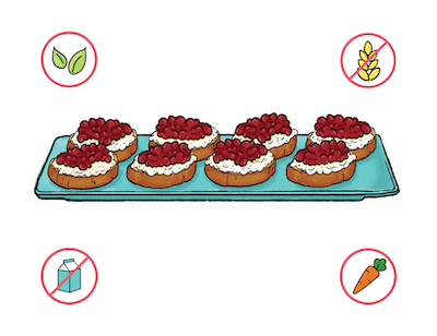 Dietary Modifications for Cranberry Crostini