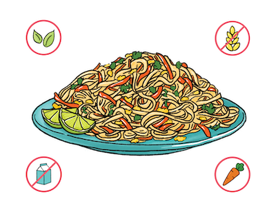 Dietary Modifications for Pad Thai Noodles