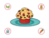 Dietary Modifications for Raspberry Love Muffins