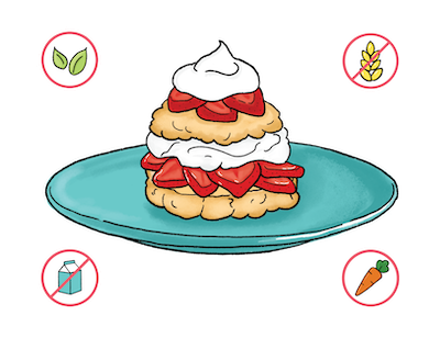 Dietary Modifications for Strawberry Shortcakes