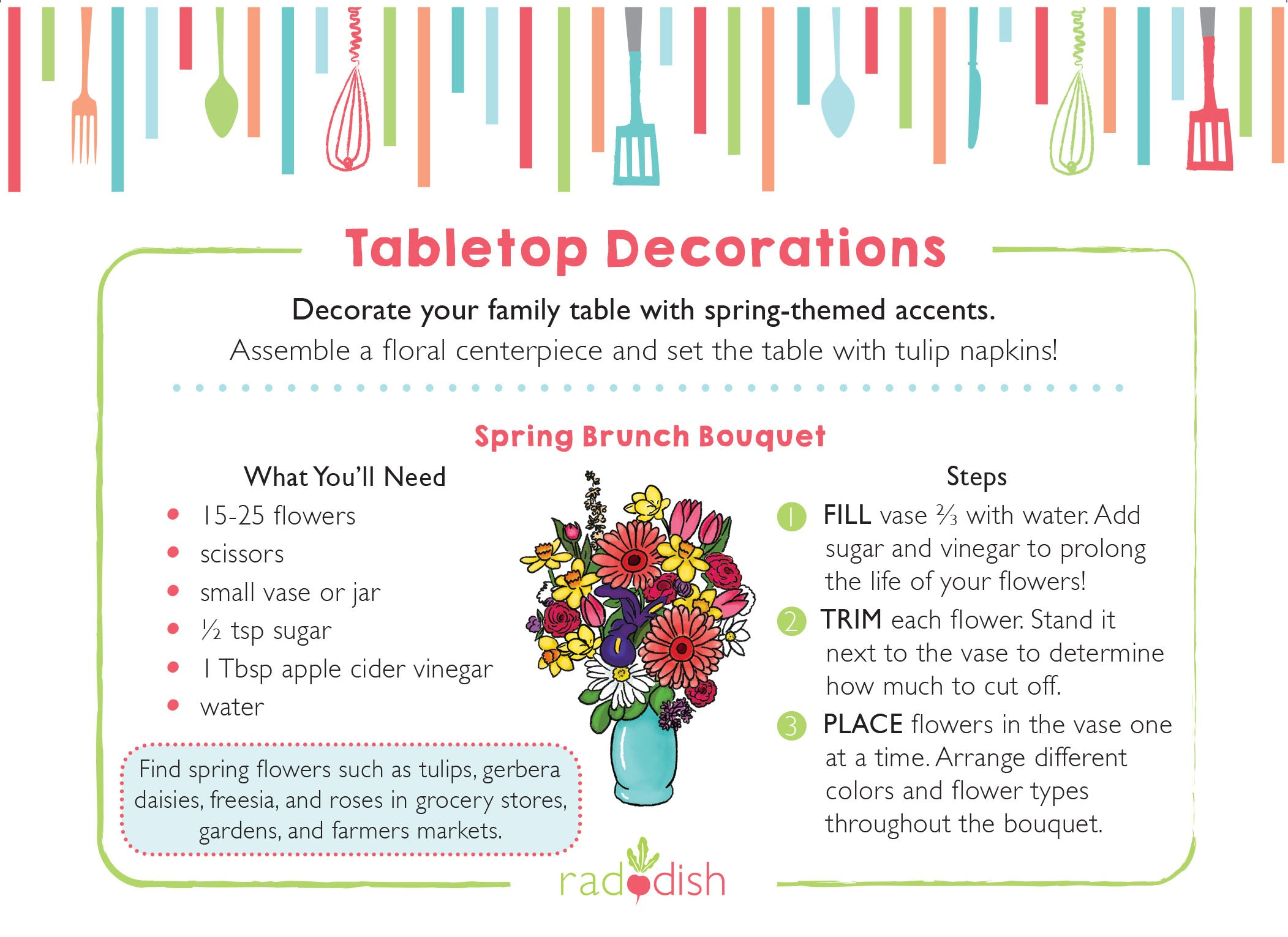 American Heart Association Healthy Kids Spring Tabletop Decorations