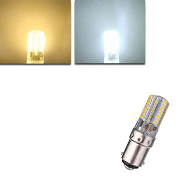 BA15D 2.6W 64 3014 SMD LED Ampoule Light Lamp Silicone Corn Bulb 220V