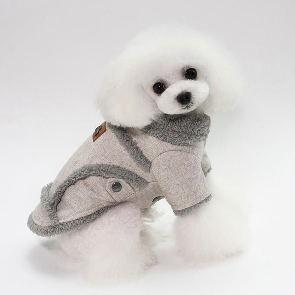 2018 Autumn Winter Pet Clothes Dog Woollen Coats