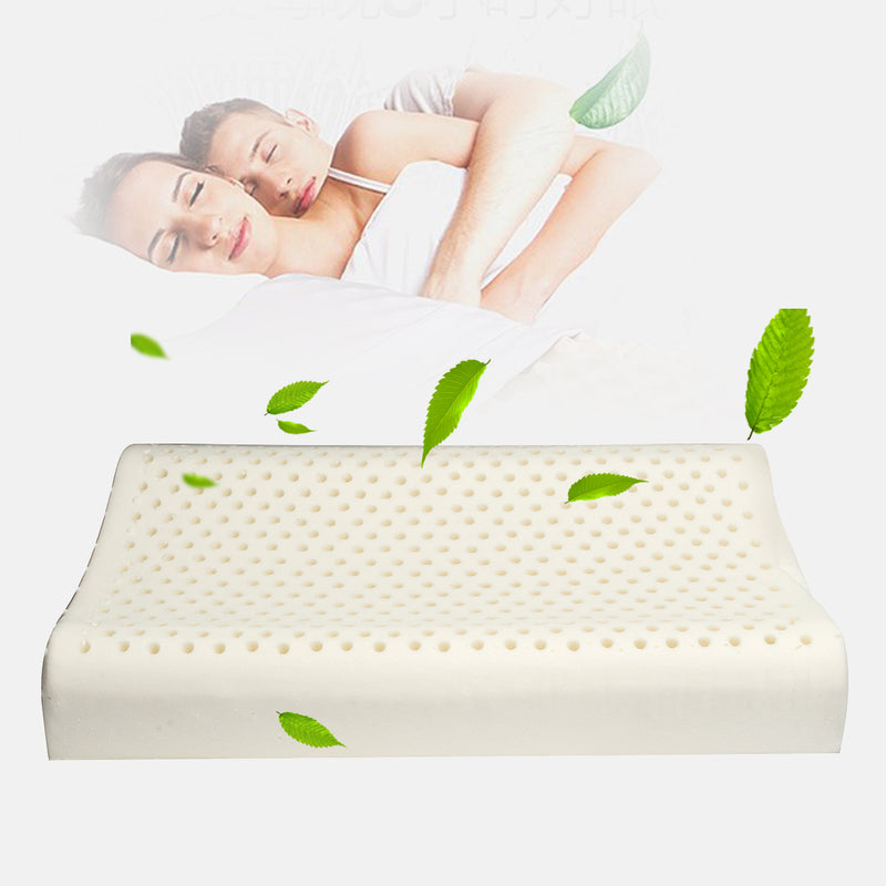 100% Natural Standard Latex Pillow Comfort for Neck Pain Fatigue Relief