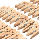 100PCS 35mm Natural Wooden Photo Paper Clips