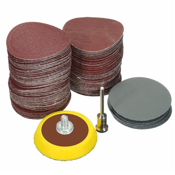 100pcs 25mm 80-5000 Grit Sanding Paper with 1/8 Inch Sanding Pad Sandpaper