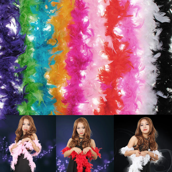 Costume Fluffy Feather Boa Hen Night Party Wedding Dress Up Scarf