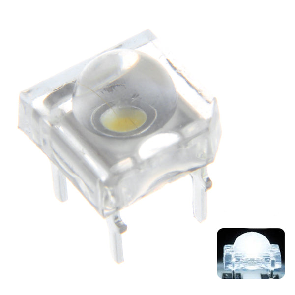 100PCS 5MM 4Pin Bright White Transparent Round Top Lens Water Clear Bulb Emitting LED Diode DIY Lamp DC3V