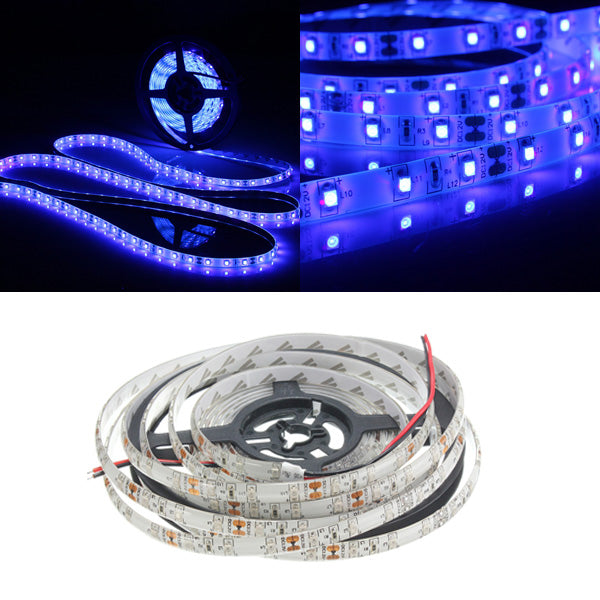 0.5/1/2/3/4/5M SMD3528 Purple Waterproof LED Strip Light Blacklight for Indoor Outdoor DC12V