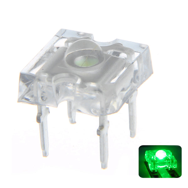 100PCS 3MM Green Ultra bright Transparent Round Top Lens Light Emitting LED Diode Lamp Water Clear Bulb 3V