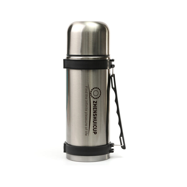 1.2L Large Outdoor Stainless Steel Travel Mug Thermos Vacuum Flask Bottle With Cup Bottles