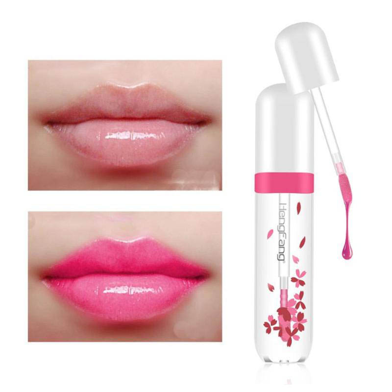 Cherry Blossom Red Temperature Changing Color Moisturizing Lip Gloss