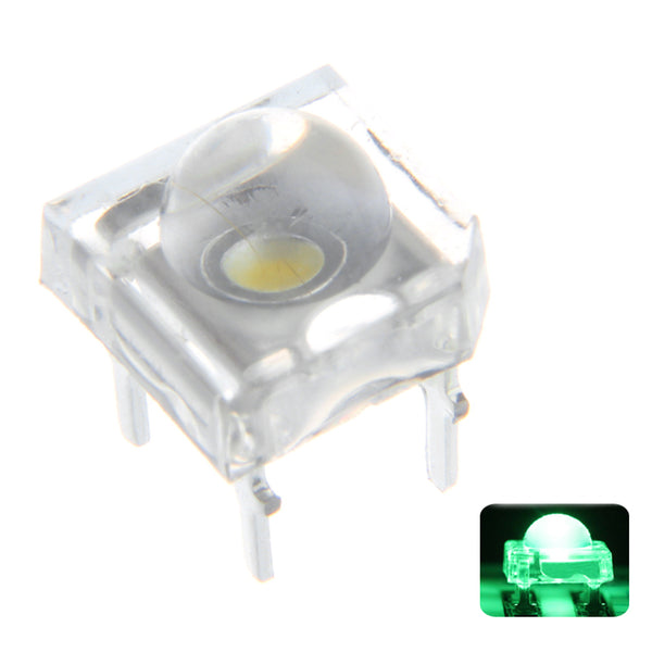 100PCS 5MM 4Pin Green LED Transparent Round Top Lens Water Clear Bulb Emitting Diode Lamp DC3V
