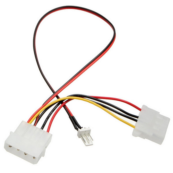 CPU Fan 4Pins Patch Cord to 3/4 Pins Power Adapter Cable Lead Wire