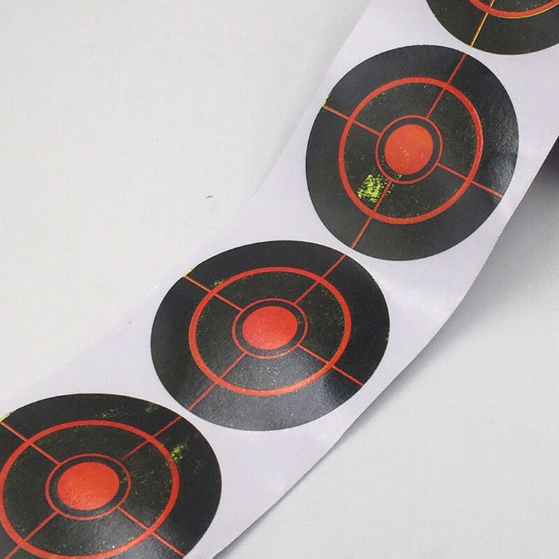 100pcs/250pcs 7.5cm Width Roll Shooting Adhesive Target Paper Target For Hunting Shooting Training Sticker