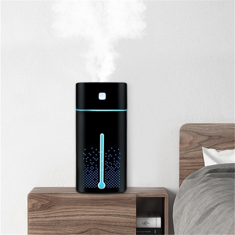 1000ml Ultrasonic Air Humidifier Purifier USB 7 Color LED Lights Quiet Mist Diffuser