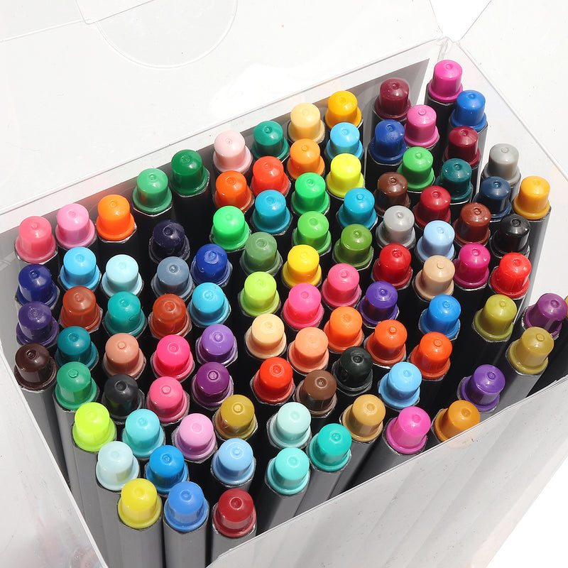 100 Color 0.4mm Fineliner Fineliners Set Art Painting Water Based Marker Pen