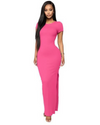 Show Off High Stretch Split Long Dress S-XL