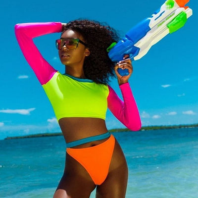 Bubble Gum Neon  Two Piece Set S-3XL