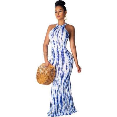 Mermaid Tie-Dye Maxi S-2XL