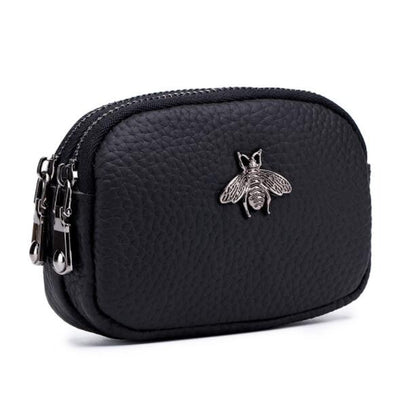 Queen Bee 100% Genuine Leather Coin Purse