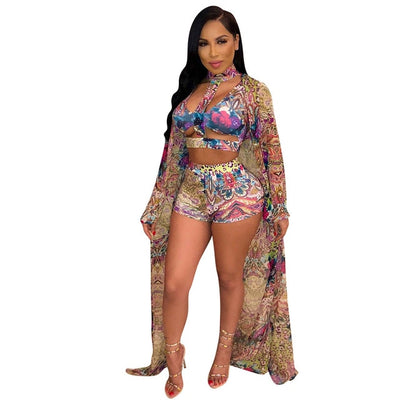 Mama Africa 3 Piece Swimwear Set! -CLICK for More Colors and Patterns! S-XL