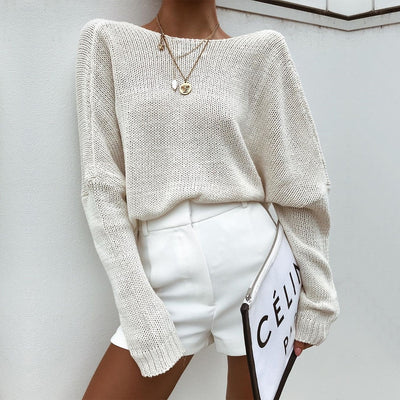 Criss Cross Knitted Sweater S-L
