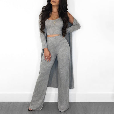 Love 2 Lounge 3 Piece Cardigans Set S-3XL