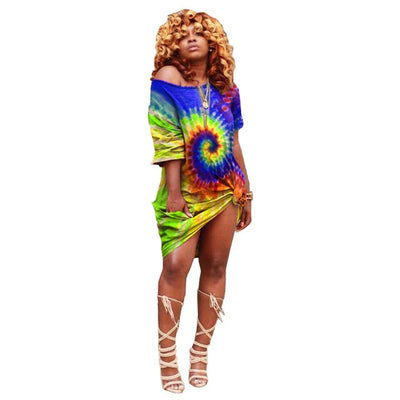 Live your life Loose fit Tie-Dye Midi S-3XL