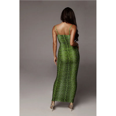Wild Animal Backless Dress S-2XL