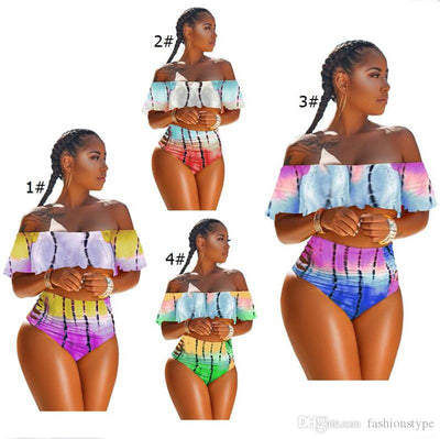 Hipster Tie-dyed Bikini S-3XL