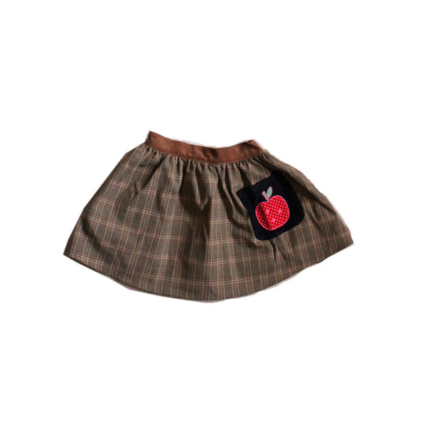 PLAID APPLE SKIRT