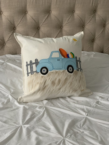 Summer Truck Hand Painted Throw Pillow 20