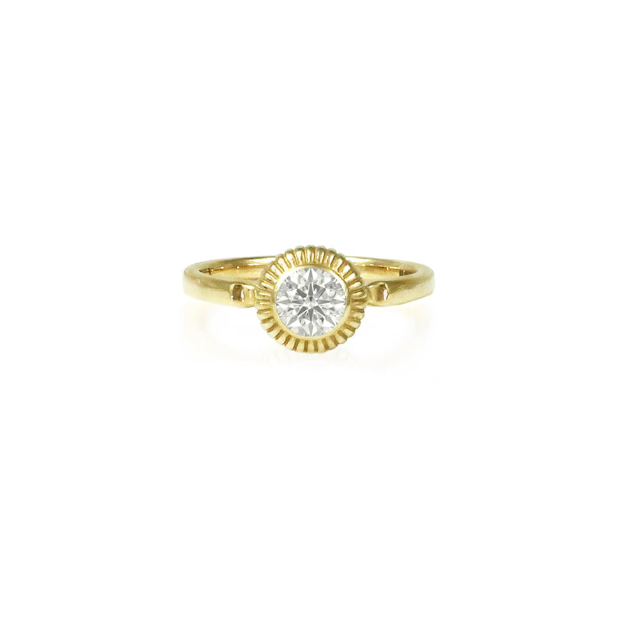 Diamond & Gold Amanita Ring
