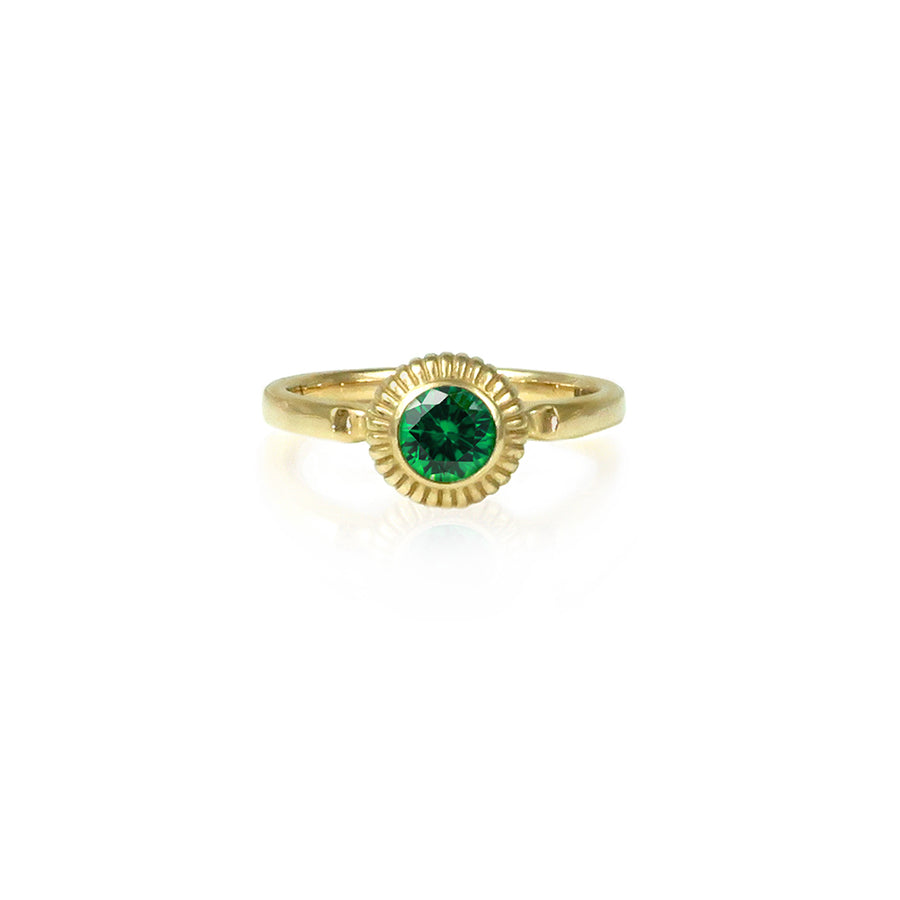 Emerald & Gold Amanita Ring
