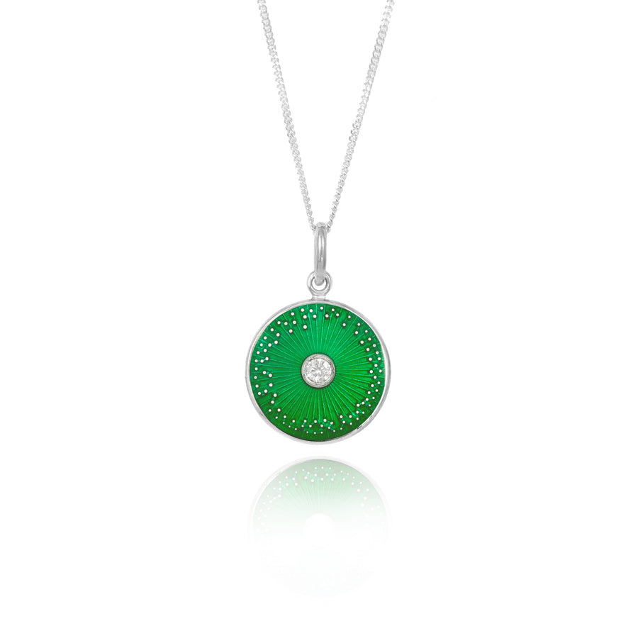 Green Diamond Diatom Pendant
