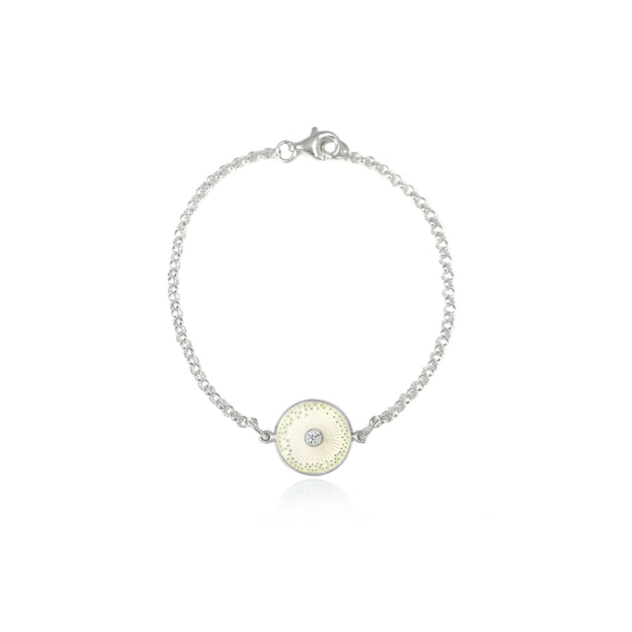 White Diamond Diatom Bracelet